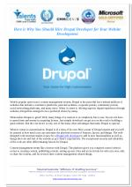 Here is Why You Should Hire Drupal Developer for Your Website Development