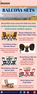 Shop Stylish Balcony Sets Online in India - Wooden Street