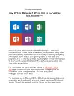 Buy Online Microsoft office 365 in Bangalore