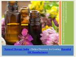 Buy Essential Oil Online from Leading Manufacturer – Natural Therapy India