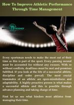 How To Improve Athletic Performance