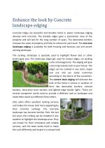 Cement Lawn Edging