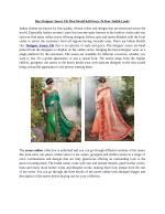 Buy Designer Sarees UK That Would Add Grace To Your Stylish Looks