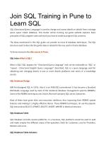 Join SQL Training in Pune to Learn SQL
