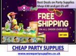 Cheap Party Supplies | Party Supplies Online | Party Supplies UK