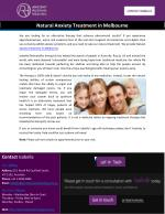Natural Anxiety Treatment in Melbourne