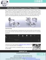 Affordable Diamond Engagement Rings in Brisbane
