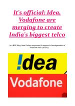 It's official: Idea, Vodafone are merging to create India's biggest telco