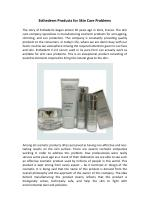 Esthederm Products for Skin Care Problems