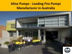 Leading Fire Pumps Manufacturer in Australia