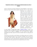 Dress materials – Fusion of casual and formal styles of Indian Women