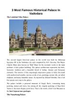 3 Most Famous Historical Palace In Vadodara