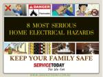 Presentation About Common Electrical Hazards & Safety Tips