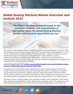 Global Sewing Machine Market Analysis, Opportunities and Outlook 2021