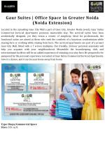 Gaur Suites | Office Space in Greater Noida (Noida Extension)