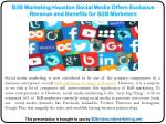 B2B Marketing Houston Social Media Offers Exclusive Revenue and Benefits for B2B Marketers