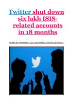 Twitter shut down six lakh ISIS-related accounts in 18 months