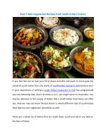 Best 5 Non Vegetarian Recipes from South Indian Cuisine