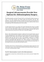 Surgical Advancements Provide New Options for Abdominoplasty Surgery