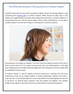 The Difference Between a Hearing Aid and a Cochlear Implant