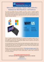 Delray Beach Computer Repair Offers Effective Solutions for Both Hardware And Software