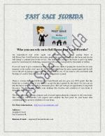 Sell your House With Fast Sale Florida And Get Retail Profit