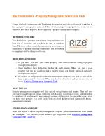 Rize Homesource - Property Management Services in Utah