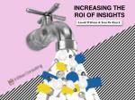 Increasing the ROI of Consumer Insights