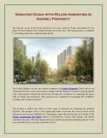 Greater Noida with Major Amenities In Godrej Property
