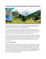 Information about Himachal Pradesh Tour Festival and Culture