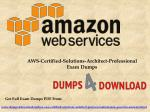 Updated Amazon AWS Certified Solution Architect Professional Questions