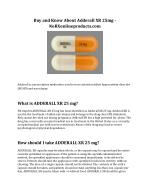 Buy and Know About Adderall XR 25mg - NoRXonlineproducts.com