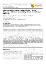 Physicochemical and Thermal Properties of Biofield Treated Ethyl Cellulose and Methyl Cellulose