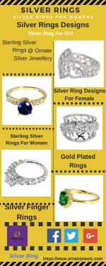 Silver Rings : Shop Sterling Silver Rings For Women, Girls