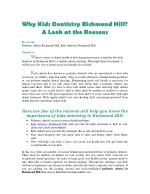 Why Kids Dentistry Richmond Hill? A Look at the Reasons
