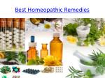 Best Homeopathic Remedies