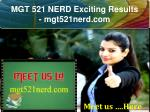 MGT 521 NERD Exciting Results - mgt521nerd.com