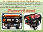 The advantages of gasoline generator than others generators