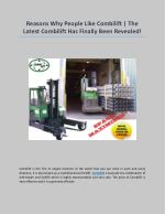 Reasons Why People Like Combilift   The Latest Combilift Has Finally Been Revealed!