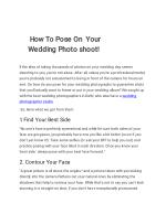 How to pose on your wedding photo shoot