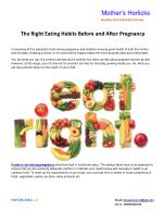 The Right Eating Habits Before and After Pregnancy