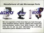 Laboratory Collection of Microscope Parts