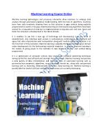 Enhance your Knowledge on Machine Learning