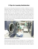 5 Tips for Laundry Satisfaction