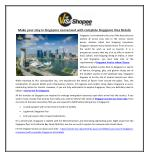 Make your stay in Singapore convenient with complete Singapore Visa Details
