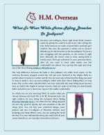 What To Wear While Horse Riding Breeches Or Jodhpurs