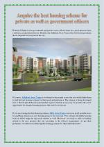 Acquire the best housing scheme for private as well as government officers