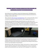 How To Find Office Cleaning Middlesex