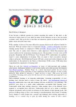 Best International Schools, IB School in Bangalore - TRIO World Academy