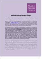 Balloon Sinuplasty - A Secure Way To Cure Sinus Disease